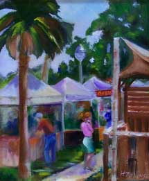 First Place: Tuesday in Gulfport - Oil - Helen Mullins